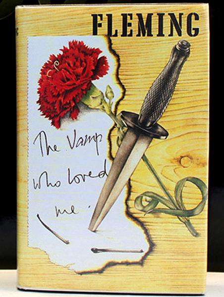Original cover for Ian Fleming's The Vamp Who Loved Me