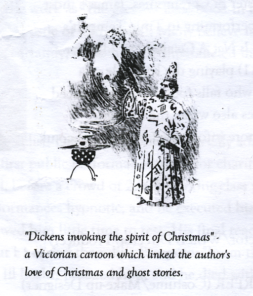 Dickens invoking the spirit of Christmas