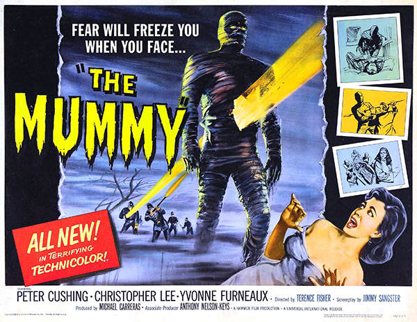 poster for The Mummy (1959) from Hammer